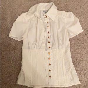 Bebe corset shirt runs big